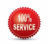 100 percents service Sign — Vector de stock