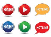 Hotline icons set — Stock Vector