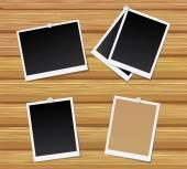 Blank black photos — Stock Vector