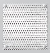 Silver Metal grid — 图库矢量图片