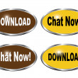 Download and chat now icons — Stock Vector #60896031