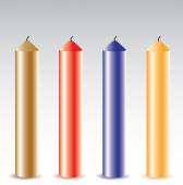 Realisric colorful Candles on light background — Stockvektor