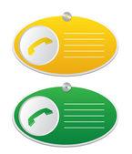 Round  Telephone icons — Stock Vector