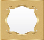 Blank golden signboard — Stock Vector
