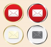 Mail icons set — Stock Vector