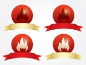 Set of Symbols of fire — Stock Vector