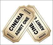 Vintage bioscoopkaartjes — Stockvector