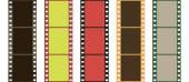 Videotapes or films set — Stock Vector
