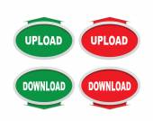 Download and upload buttons — Stock Vector