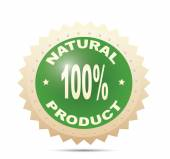 Label for natural products — Stock Vector