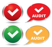 Audit validation icons — Stock Vector