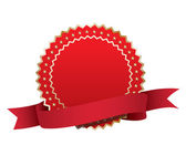 Label with ribbon — Stock Vector