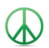 Green Peace symbol — Stock Vector