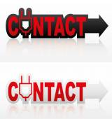 Contact signs set — Stock Vector