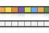 Conjunto de videos o películas — Vector de stock