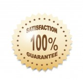 Satisfaction Guaranteed Shopping label — Stockvektor