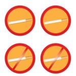 No smoking and smoking signs — Stock Vector #60926233
