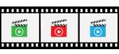 Clapper board icons — Stok Vektör