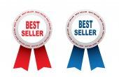 Bestseller Labels — Stock Vector