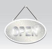 Hanging Open signboard — Stockvektor