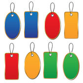 Hanging Shopping tags — Stock Vector