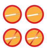 No smoking and smoking signs — Stock Vector