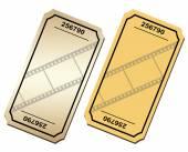 Vintage Cinema tickets — Stock Vector
