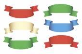 Empty ribbons set — Stockvektor