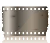 Blank grained film strip — Stock Vector