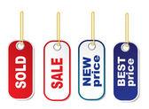 Shopping labels set — 图库矢量图片