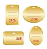 Blank shopping labels — Stock Vector