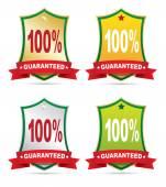 Guaranteed Labels — Stock Vector