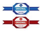 Labels - original — Stock Vector