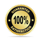 Label - Satisfaction guarantee — Vector de stock
