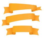 Empty ribbons set — Stock Vector