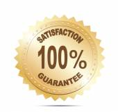 Satisfaction Guaranteed Shopping label — Stock Vector
