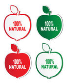 Natural product stickers — Stock Vector