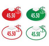Discount labels set — Stock Vector