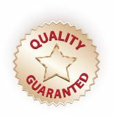 Guarantee and quality label — Stock Vector