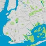Brooklyn New York detailed vector map editable — Stock Vector #71162925