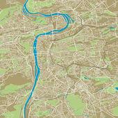 Praha vector map — Stock Vector