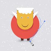 New year sheep card — Stock Vector