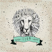 Logo with lion head — Stock Vector