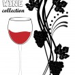 Grapevine. Vector wine design elements. — Stockfoto #60545981
