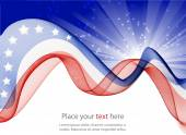 Abstract image of the American flag — Stock Photo