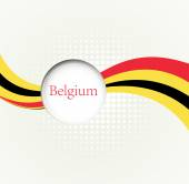 Abstract image of the Belgian flag — Stock Vector