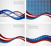 American Flag, Vector background for Independence Day and other events. — Stock Vector