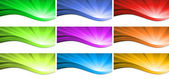 Abstract colorful wave background. Vector. — Stock Vector