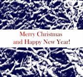 メリー クリスマス風景。ベクター幸せな新年 — ストックベクタ