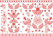 Vector red floral pattern — Vettoriale Stock